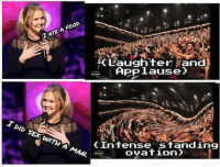 Amy Schumer is The Big Bang Theory of stand-up: OP.  IATE A (Laughter Land  APP JLauseO  I DID SEX A MAN  (Intense Standing  ovation Amy Schumer is The Big Bang Theory of stand-up