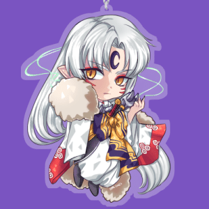opal-lines:  Last minute addition of sesshomaru to accompany my inuyasha and kagome charm for AnimeNext!: opal-lines:  Last minute addition of sesshomaru to accompany my inuyasha and kagome charm for AnimeNext!