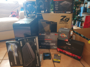 What are you guys doing today?: OPatented  ONIKUMA  RG  ZALMAN  Smart Zero Fan  Fully Modular  Flat Cables  SMART PRO 650  Main Japanese  Capacitor  7 YEAR  Wananty  SMART PRORGB650W  CE FE O RÚHS I  Ze  KNOSSOS  ZALMAN  PROFESSONAL LASER GAMING AROLSE  PLUS  ZM-GM4  NEO  ATX MID TOWER  COMPUTER CASE  AMDA  RYZEN  msi  AMDHOTHERBGARD  C-12.15  B450  XFX  TOMAHAWK  B45  AMDA  RYZEN  SOCKET  ANE R n  ORAPHICS CARD  RADE ON  RX58 O  HORd MD Freiyne2oraiog Dieect 12Optmod FinFET 14 Output D PortHM20Duas Lins Dn  ADATA  ACORSAR  ADATA  GTS  veOENCE  SU760  VENGE ANCE  NVWTVZ  PREMIUM  ALUMINIUM MOUSE PAO  OOOLD  Pad with Anodized Black and White Two Tones  am ped unuunynea  to Zalman's Special D.S.A  Vaeos Buppe  English  LINEAR & NON-CUCK TYPE HIGH OUALITY SWITCH  S HOT KEYS FOR EASY ACCESS  ZM-K500  Mechanical Keyboard  ילוימ What are you guys doing today?