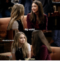 Memes, 🤖, and Girl Meets World: OPEN  GIRLMEETSWORLDHD  Big world.  Ours now. GirlMeetsGoodbye what did you think of the last episode of Girl Meets World?