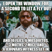 Found it on a friends Facebook 😂😂😂 CopHumor CopHumorLife Humor Funny Comedy Lol Police PoliceOfficer ThinBlueLine Cop Cops LawEnforcement LawEnforcementOfficer Fly JehovahWitnesses Mice: OPEN THE WINDOW FOR  A SECOND TO LETA FLYOUT  010 FLIES, 6  MOSOUITOS  3 MOTHS, 2MICE AND  AJEHOVAHSWITNESSGETINI Found it on a friends Facebook 😂😂😂 CopHumor CopHumorLife Humor Funny Comedy Lol Police PoliceOfficer ThinBlueLine Cop Cops LawEnforcement LawEnforcementOfficer Fly JehovahWitnesses Mice