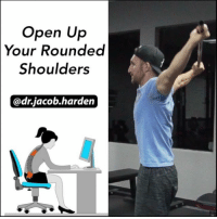 MOVE BETTER MONDAY: SHOULDER MOBILITY The shoulder dislocate is a great drill and can make for a wonderful addition to both your warm up and your prehab routine. It takes the shoulder joint through a full 🔃 circumduction motion and will help you build and maintain excellent shoulder mobility. This drill is one of my ☝ top recommendations for anyone sitting at a desk all day as it opens up the thoracic spine and pecs, helping get you out of that kyphotic, rounded shoulders posture. And the best part is, you can do it right at 🏠 home or in the gym with a broomstick or PVC pipe. I like to warm up the tissues by doing 15 reps of 🙋 one arm up and over at a time and then repeat in the other direction. Then go into the full dislocate where you move 🙆 both arms back and forth. If you have really tight shoulders, you'll need to start out at the widest grip length. As your shoulders open up, you can start a bring the hands in. Make sure to keep the ribs ⤵ down so that you create motion only at the shoulder and don't hyperextend the lumbar spine. Add it into your routine once or twice every day this week and you'll feel much better come Friday. 😄 And then I'll have a new one for you next Monday! . 🎵 - Rakeem Miles - A Dollar A Day MyodetoxOrlando Myodetox FutureproofYourBody: Open Up  Your Rounded  Shoulders  @dr.jacob harden MOVE BETTER MONDAY: SHOULDER MOBILITY The shoulder dislocate is a great drill and can make for a wonderful addition to both your warm up and your prehab routine. It takes the shoulder joint through a full 🔃 circumduction motion and will help you build and maintain excellent shoulder mobility. This drill is one of my ☝ top recommendations for anyone sitting at a desk all day as it opens up the thoracic spine and pecs, helping get you out of that kyphotic, rounded shoulders posture. And the best part is, you can do it right at 🏠 home or in the gym with a broomstick or PVC pipe. I like to warm up the tissues by doing 15 reps of 🙋 one arm up and over at a tim