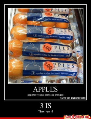 3 Ishttp://omg-humor.tumblr.com: OPPLES  IRRIR FACK  1.00 TL  A KWIK  a day for better health  PLES  KWIK PACK  apples a day for better healthi cnt  PLES  1.00  BAKWIK PACK  3 apples a day for better health! co  PPLES  1.00  AB A KWIK PACK  (3 apples a day for better healnh  APPLES  apparenty now come as oranges  TASTE OF AWESOME.COM  3 IS  The new 4  TASTE OF AWESOME.COM  1.00 3 Ishttp://omg-humor.tumblr.com
