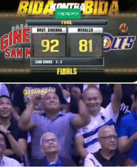 "Memes, Ginebra, and 🤖: OPPO  FINAL  BAR  BRGY. GINEBRA  MERALCO  92 81  SAN M  LEAD SERIES 3-2  FINALS ""No one was happier than Ronnie Nathanielsz after our championship, he was a die hard fan glad he was able to see Ginebra win one last time"" - Tim Cone  #RipSirRonnie  RJTCrisostomo"