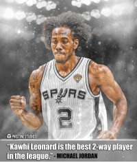 "Do you agree with the 🐐? ⠀ Follow @PristineStudios for more ✔️: OPRISTINESTUDIOS  ""Kawhi Leonard is the best 2-way playe  TTİ IAİERLIIAL-MICHAEL JORDAN  in the league. Do you agree with the 🐐? ⠀ Follow @PristineStudios for more ✔️"