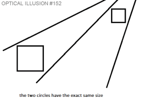 Ass, Tumblr, and Blog: OPTICAL ILLUSION #152  the two circles have the exact same size based-world:Fuck thats a good ass optical illusion. I can't even see the circles.