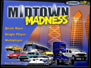 Allow me to take you back in time. (This was my first game): OPTIONS  MDTOWIN  MADNESS  Quick Race  Single Player  Multiplayer  CERCE  Race Records Allow me to take you back in time. (This was my first game)