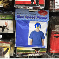 Dank, Halloween, and Blue: OR BELT  ONESZE FITS MOST  SOLD SEPARATELY  INCLUDES:  RATON AZUL DE LA VELOCIDAD  Blue Shirt  ONE SIZE FITS MOST  VE1VETEEN  RENAISSAN  CAH  CAPADELRENAC  Adult  1 Pclpza Need a last-minute Halloween costume? We got you.
