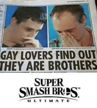 Dank, Smashing, and Super: or  fu  GAY LOVERS FIND OU  THEY ARE BROTHERS  SUPER  SMASH BRPS  U L T I M A T E