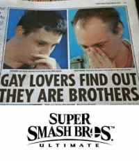 gay: or  fu  GAY LOVERS FIND OUT  THEY ARE BROTHERS  SUPER  SMASH BRES  TMI  U L TI M A T E