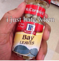 i just hate it when... https://t.co/qg5LWvIsVL: or  i just hate  McCormick  LEAVES  hen. i just hate it when... https://t.co/qg5LWvIsVL