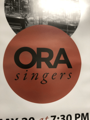 Enemy, Stand, and Ora: ORA  singers  rnn at 7.30 PM It's an enemy stand!