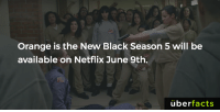 Who's ready?!: Orange is the New Black Season 5 will be  available on Netflix June 9th.  uber  facts Who's ready?!