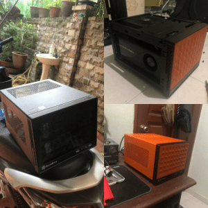 Airplane, Black, and Good: ORCE GTX 1080  NOTAC  SILVERSTrONE  or  Hra They said orange is the new black? Transformation of Silverstone SG13 theme of Airplane Blackbox! Gonna add some decals and it should looks good!