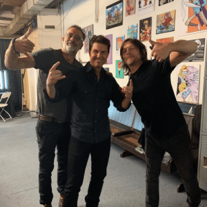 Tom Cruise, Cruise, and Norman Reedus: ORCTRA PIT Just Norman Reedus and Jeffrey Dean Morgan hangin' out with Tom Cruise