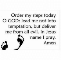 Memes, Temptation, and 🤖: Order my steps today  O GOD: lead me not into  temptation, but deliver  me from all evil. In Jesus  name I pray.  Amen