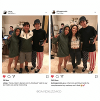 """HAHA ok three things 1- liza has banana on her head , 2- second picture they are practically wearing the same shoes, 3- DAVID MET THEM IN THOSE PANTS HAHA DAVIDD doshy diza DavidDobrik Liza lizzza LizaKoshy lizzzakoshy davidandliza davidandlizzza lizaanddavid lizzzaanddavid vine YouTube dizzzanators youtubers vloggers comedy couplegoals relationshipgoals goals: ore  delmygacosta  The Grove >  The Grove >  27  249 likes  delmygacosta guys I met Liza and David and she  complemented my makeup and i died to  28 likes  j.0rge. """"Sorry, there's banana on my forehead"""" safe to say  last night was pretty interesting  @DAVIDXLIZZAKO HAHA ok three things 1- liza has banana on her head , 2- second picture they are practically wearing the same shoes, 3- DAVID MET THEM IN THOSE PANTS HAHA DAVIDD doshy diza DavidDobrik Liza lizzza LizaKoshy lizzzakoshy davidandliza davidandlizzza lizaanddavid lizzzaanddavid vine YouTube dizzzanators youtubers vloggers comedy couplegoals relationshipgoals goals"""