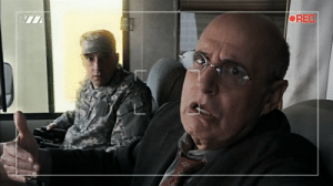 Mexico, Interview, and General: OREC An exhausted General Kelly gives a televised interview from the US/Mexico border with an unidentified National Guardsman (c. 2018)