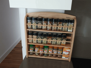 My husband has OCD and every now and again I will do something outrageously sexy for him like alphebetise the spice rack.: OREGANO  Basil  Cumin  Cnnamon My husband has OCD and every now and again I will do something outrageously sexy for him like alphebetise the spice rack.