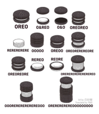 9gag, Cookies, and Memes: OREO O&REO 0&0 OREOREO  RERERERERE 00000 OREO0 OREOREREREORE  REREO REORE  OREOREORE  OREREREREREREREREO  Art by:白砂糖  Translated by: 9GAG  OREREREREREO00000000  OOOREREREREREREO00 I'd prefer an Oreoreoreo.⠀ Which variation would you prefer?⠀ By 白砂糖 | TW⠀ -⠀ oreo comics cookies 9gag