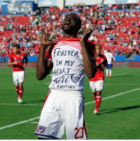 FC Dallas winger Roland Lamah pays tribute to his friend Cheick Tiote...: OREVER  N MY  HEAR  2)  20 FC Dallas winger Roland Lamah pays tribute to his friend Cheick Tiote...