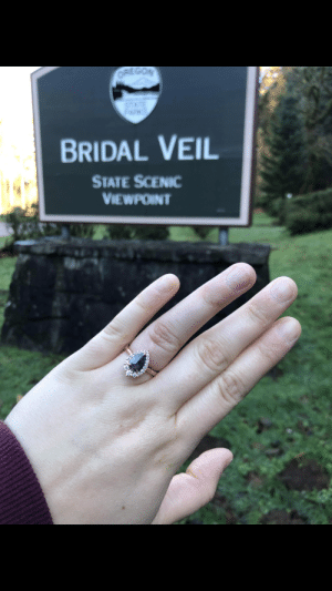 I proposed at Bridal Veil Falls today.: ORIE GON  STATE  BRIDAL VEIL  STATE SCENIC  VIEWPOINT I proposed at Bridal Veil Falls today.