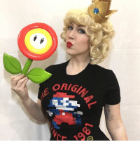 @missyeru channeled her inner Princess Peach with our Mario shirt from our ORIGINS LootCrate; isn't she lovely? 😊: ORIG @missyeru channeled her inner Princess Peach with our Mario shirt from our ORIGINS LootCrate; isn't she lovely? 😊
