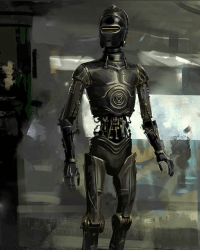 Original design for K-2SO show him looking much more like C-3PO. starwars rogueone K2SO C3PO: Original design for K-2SO show him looking much more like C-3PO. starwars rogueone K2SO C3PO
