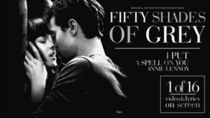 Annie Lennox I Put a Spell on You from the Fifty Shades of Grey ...: ORIGINAL MOTION PICTURE SOUNDTRACK  FIFTY SHADES  OF GREY  I PUT  A SPELL ON YOU  ANNIE LENNOX  1of 16  video&lyrics  on screen Annie Lennox I Put a Spell on You from the Fifty Shades of Grey ...