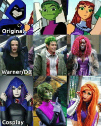 C'mon guys, it's not that hard to get the looks down!  (Raven: Kinpatsu Cosplay, Beast Boy: ??, Starfire: ??) If you know the other 2 feel free to tag in comments & I'll update!  #GothamCityMemes  ♡ Mera: Original  Warner/DC  Cosplay C'mon guys, it's not that hard to get the looks down!  (Raven: Kinpatsu Cosplay, Beast Boy: ??, Starfire: ??) If you know the other 2 feel free to tag in comments & I'll update!  #GothamCityMemes  ♡ Mera