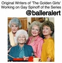 "Original Writers of 'The Golden Girls' Working on Gay Spinoff of the Series-blogged by @thereal__bee ⠀⠀⠀⠀⠀⠀⠀⠀⠀ ⠀⠀⠀⠀⠀⠀⠀⠀⠀ Since its 1985 debut, TheGoldenGirls have pulled at our hearts. Now 25 years after the series finale, two of the original writers are creating a gay version of the sitcom. ⠀⠀⠀⠀⠀⠀⠀⠀⠀ ⠀⠀⠀⠀⠀⠀⠀⠀⠀ Stan Zimmerman and James Berg, who also wrote for other shows like Roseanne and GilmoreGirls, have created a pilot for a new show called 'Silver Foxes', which will focus on the relationships between four older gay men. ⠀⠀⠀⠀⠀⠀⠀⠀⠀ ⠀⠀⠀⠀⠀⠀⠀⠀⠀ ""Every one of us is getting older,"" Zimmerman said in an interview with Party Foul Radio with Pollo & Pearl. ""Especially with gays and lesbians and transgender, we create our own families—and that's what The Golden Girls did. Those women came together and supported each other."" ⠀⠀⠀⠀⠀⠀⠀⠀⠀ ⠀⠀⠀⠀⠀⠀⠀⠀⠀ While 'The Golden Girls' are definitely some of the inspiration behind the series, Zimmerman says the show was also inspired by 'Gen Silent', a documentary about LGBT seniors who experience isolation and are sometimes forced to go back in the closet when moving into assisted living situations. ⠀⠀⠀⠀⠀⠀⠀⠀⠀ ⠀⠀⠀⠀⠀⠀⠀⠀⠀ Currently Zimmerman and Berg are pitching 'Silver Foxes' to networks, Netflix, and Hulu.: Original Writers of The Golden Girls'  Working on Gay Spinoff of the Series  @balleralert Original Writers of 'The Golden Girls' Working on Gay Spinoff of the Series-blogged by @thereal__bee ⠀⠀⠀⠀⠀⠀⠀⠀⠀ ⠀⠀⠀⠀⠀⠀⠀⠀⠀ Since its 1985 debut, TheGoldenGirls have pulled at our hearts. Now 25 years after the series finale, two of the original writers are creating a gay version of the sitcom. ⠀⠀⠀⠀⠀⠀⠀⠀⠀ ⠀⠀⠀⠀⠀⠀⠀⠀⠀ Stan Zimmerman and James Berg, who also wrote for other shows like Roseanne and GilmoreGirls, have created a pilot for a new show called 'Silver Foxes', which will focus on the relationships between four older gay men. ⠀⠀⠀⠀⠀⠀⠀⠀⠀ ⠀⠀⠀⠀⠀⠀⠀⠀⠀ ""Every one of us is getting older,"" Zimmerman said in an interview with Party Foul Radio with Pollo & Pearl. ""Especially with gays and lesbians and transgender, we create our own families—and that's what The Golden Girls did. Those women came together and supported each other."" ⠀⠀⠀⠀⠀⠀⠀⠀⠀ ⠀⠀⠀⠀⠀⠀⠀⠀⠀ While 'The Golden Girls' are definitely some of the inspiration behind the series, Zimmerman says the show was also inspired by 'Gen Silent', a documentary about LGBT seniors who experience isolation and are sometimes forced to go back in the closet when moving into assisted living situations. ⠀⠀⠀⠀⠀⠀⠀⠀⠀ ⠀⠀⠀⠀⠀⠀⠀⠀⠀ Currently Zimmerman and Berg are pitching 'Silver Foxes' to networks, Netflix, and Hulu."