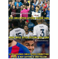 Casemiro For You 😂😂: OriginalTroll Football  AIA  KIDS SMILE AFTER GETTINGYELLOW CARD  HAIR  ESSIEn  MEN SMILE AFTER GETTING RED CARD  originarTrollFootball  ULTRA LEGENDS SMILE AFTER COMMITTING  A FOUL & NOT GETTING A 2ND YELLow Casemiro For You 😂😂