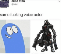 Fucking, Funny, and Memes: Orisa stan  @aikii  same fucking voice actor Cant believe it memes overwatch overwatchmemes funny