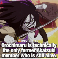 Sasuke was not an official member of the Akatsuki... 😉 | Itachi vs Pain, who would win? 🤔 | follow @marvelousfacts: Orochimaru is technically  the only former Akatsuki  member who is still alive. Sasuke was not an official member of the Akatsuki... 😉 | Itachi vs Pain, who would win? 🤔 | follow @marvelousfacts