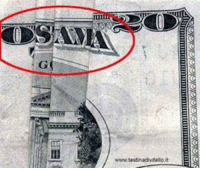 911 Conspiracy Theory - Weird Twenty Dollar Bill - Funny Joke Picture: OSAMA  www.testinadvitello,it 911 Conspiracy Theory - Weird Twenty Dollar Bill - Funny Joke Picture