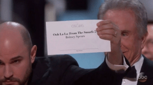 Britney Spears, Oscars, and Good: OSCARS  Ooh La La From The Smurf's 2  Britney Spears Its good to see that after all these years, justice has finally been served.