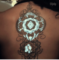 Oskar & Gaspar have created the world's first live tattoo video mapping event. #diplyvideo: Oskar & Gasp  Diply Oskar & Gaspar have created the world's first live tattoo video mapping event. #diplyvideo