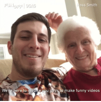 🔉 9GAG Fun Off is back! 🎉 Let's bring more happiness to the world with your funny videos. Film it, send it, and win $100,000! (Submit your vids to link in bio!) ---- Thank you @smoothsmith8 and grandma for this cute shout out video! 9GAGFunOff 9gag funnyvideos: oss Smith  We're here to inspire yo  u guys to make funny videos 🔉 9GAG Fun Off is back! 🎉 Let's bring more happiness to the world with your funny videos. Film it, send it, and win $100,000! (Submit your vids to link in bio!) ---- Thank you @smoothsmith8 and grandma for this cute shout out video! 9GAGFunOff 9gag funnyvideos