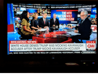 cnn.com, News, and Politics: OST OF THE POWER IN IRAQI GOVT-  NEW APPOINTMENTS COME AFTER MONTHS OF  SITU  THEWITH  UATION WOLF  ROOMBLITZER  BREAKING NEWS  WHITE HOUSE DENIES TRUMP WAS MOCKING KAVANAUGH  ACCUSER AFTER TRUMP MOCKS KAVANAUGH ACCUSER  | CNN  5:41 PMET  LIH, WHO WAS ELECTED TO HIS ROLE BY LAWMAKERS YESTERDAY; PRIME N SITUATION ROOM  JVC CNN ain't playing