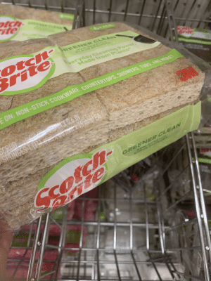 Forbidden bread: otch-  ite  otch-  Brite  REEN ER CLEAN  NON-S CRAT CH  SCRUB SPON OES  Sveryday Cleaning Power,  Made from Plants  FON: NON-STICK COOKWARE, COUNTERTOPS, SHOWERS, TUBS, AND MORE!  X0,6 IN  00 x 15 mm) EA  GRUB  SPONGES E(1 mm k  GREENER CLEAN  NON-S CRATCH  SCRUB SPON GES  79  7  PAN Forbidden bread