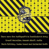 Bones, Dumbledore, and Gryffindor: othequibblerdaily  There were five Hufflepuff S in Dumbledore S Army,  Ernest Macmillan, Hannah Abbott, Justin  Finch-Fletchley, Susan Bones and Zacharias Smith Who is your favorite Hufflepuff? . Tonks . . . . . . __________________________________________________ __________________________________________________ hogwartsishome harrypotter potter potterhead wizardingworld wizardingworldofharrypotter gryffindor hufflepuff slytherin ravenclaw hogwarts hogwartsismyhome hermione sharethemagic hermionegranger ronweasley lordvoldemort voldemort harrypotterfacts hpfacts snape dracomalfoy nevillelongbottom hp jkrowling fandom emmawatson fantasticbeasts fbawtft