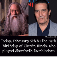 Memes, 🤖, and Snape: othequibblerdaily  Today, February 9th is the 64th  birthday of Ciaran Hinds, who  played Aberforth Dumbledore What's your patronus? . Orangutan . . . . . . __________________________________________________ __________________________________________________ hogwartsishome harrypotter potter potterhead wizardingworld wizardingworldofharrypotter gryffindor hufflepuff slytherin ravenclaw hogwarts hogwartsismyhome hermione sharethemagic hermionegranger ronweasley lordvoldemort voldemort harrypotterfacts hpfacts snape dracomalfoy nevillelongbottom hp jkrowling fandom emmawatson fantasticbeasts fbawtft