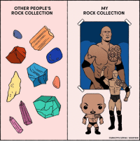 Memes, Charlotte, and Collective: OTHER PEOPLE'S  ROCK COLLECTION  MY  ROCK COLLECTION  CHARLOTTE GOMEZ BUZZ FEED God bless @therock (From @charlottehgomez)