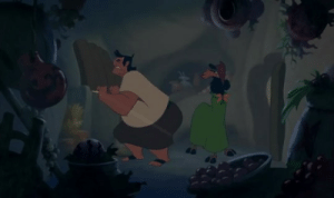 "Tumblr, Blog, and Movie: otherwindow:  my favourite trope is ""antagonist and protagonist narrowly avoiding each other in the same space"" and The Emperor's New Groove nails it perfectly I wish more media did stuff like this     Damn I need to watch this movie again. It's been too long and yet I remember this scene perfectly."
