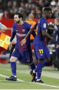 Barcelona, Memes, and Messi: otigo  Rokuter)  BA Sevilla 2-0 Barcelona 87' Sevilla 2-2 Barcelona 89'  Valverde brings Messi on to save the unbeaten season. https://t.co/v8VKEKxYuf