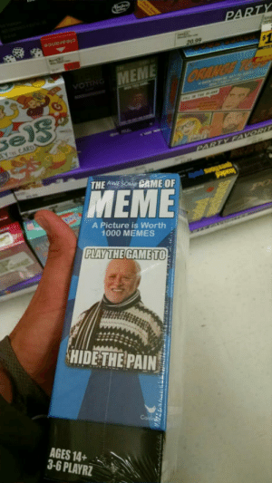 Meme, Memes, and Omg: OTIN  THE AWESOME CAME OF  MEME  A Picture is Worth  1000 MEMES  PLAY THE GAME TO  AGES 14+  3-6 PLAYRZ omg-humor:My friend sent me this from local shop