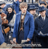 [ FantasticBeasts – 2016] — What do you guys think about me posting facts every now and then?: OTTERSCENES  Most of the events in Fantastic Beasts took  place between December 6th and 8th in 1926. [ FantasticBeasts – 2016] — What do you guys think about me posting facts every now and then?