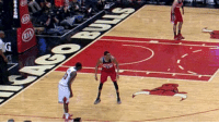Chicago, Gif, and Sports: Otto Porter stood in this spot for so long that he literally became a Chicago Bull   (GIF via @reesewaters) #Bulls  https://t.co/aFrv0pxcwx
