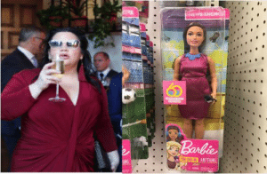 Barbie, News, and Ana: OU CAN  ANTTHING Ana Navarro is the model for the chubby Barbie news anchor?