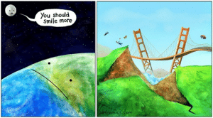 By The Perry Bible Fellowship: ou should  Smile more  bfcomics com By The Perry Bible Fellowship